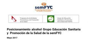 Posicionamiento alcohol semFYC