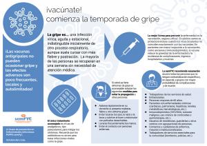 ¡Vacúnate! comienza la temporada de gripe (documento para pacientes)