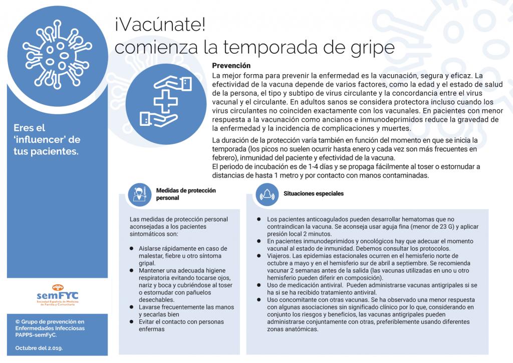 ¡Vacúnate! comienza la temporada de gripe [página 4] CÓMO PREVENIR LA GRIPE Y SITUACIONES ESPECIALES