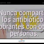 #DiaAntibioticos19: Nunca compartas los antibióticos sobrantes con otras personas.
