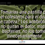 #DiaAntibioticos19: ¿Tomarías una pastilla para el colesterol para el dolor de cabeza? Los antibióticos no quitan el dolor, matan bacterias, no los tomes innecesariamente.