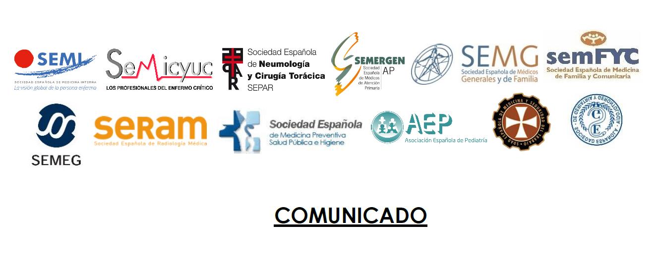 Las 12 sociedades médico-científicas abajo firmantes se adhieren al comunicado hecho público por el Foro de la Profesión Médica